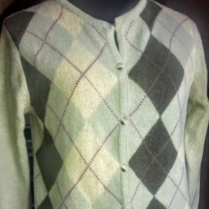abercrombie and fitch argyle cardigan size S/M